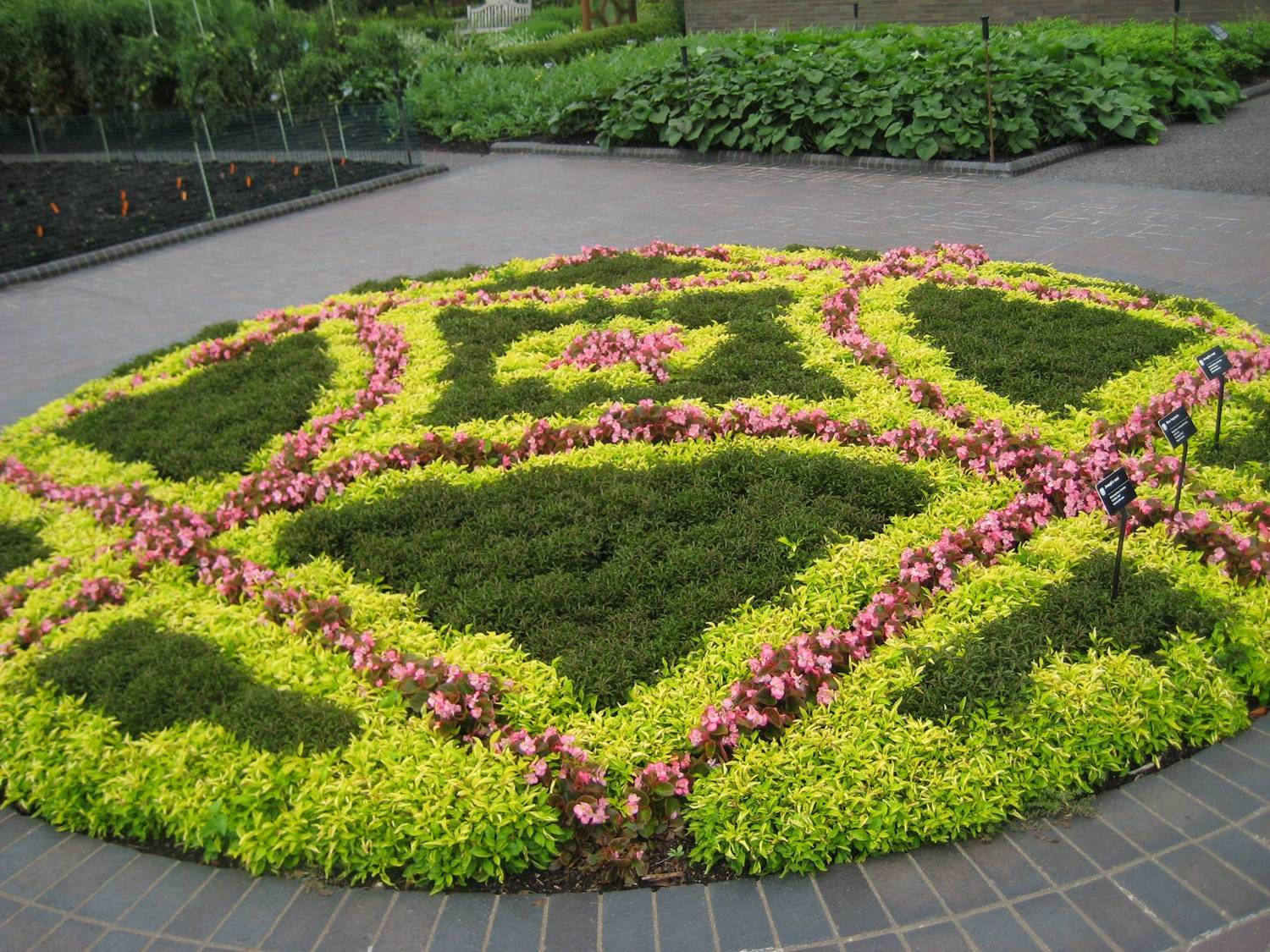 Basic design principles and styles for garden beds for Round flower bed ideas